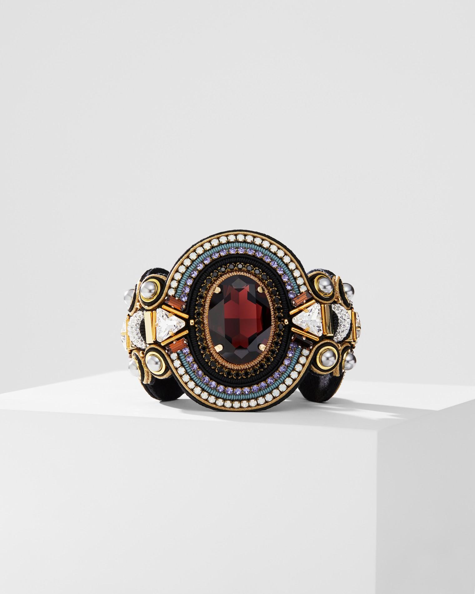 Burgundy Stone Bracelet